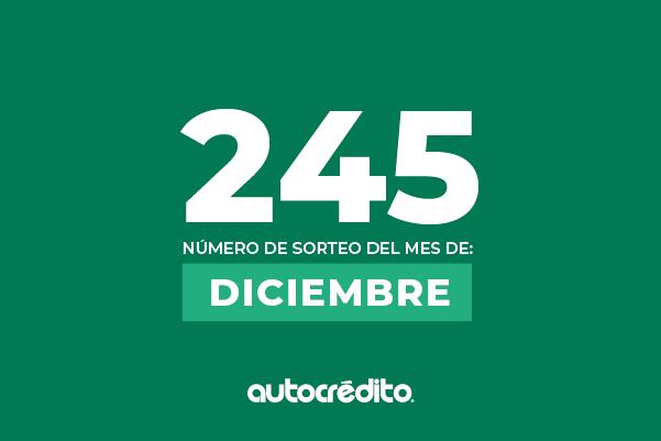 245 es el número favorecido de diciembre